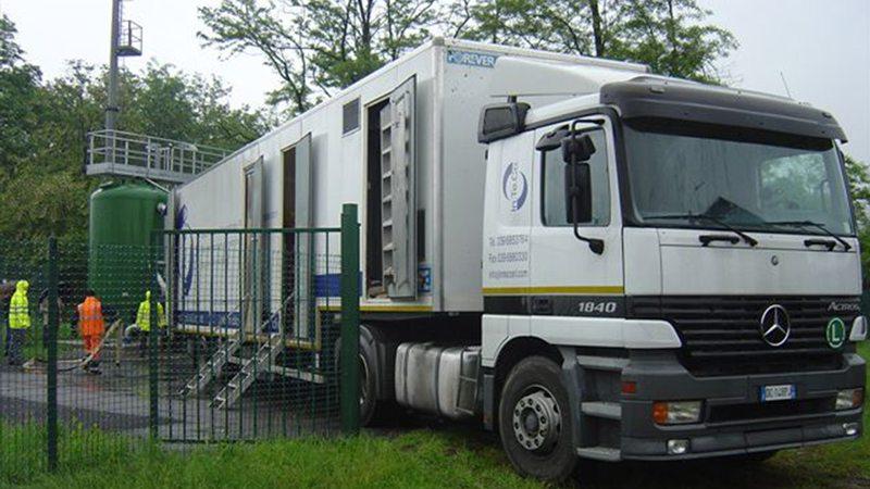 stazione mobile sanificazione